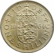 1953 to 1966 English Shilling Elizabeth II grades From Fine to UNC